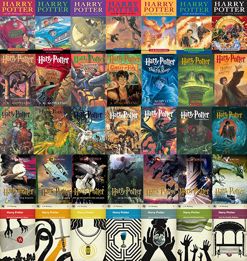 Harry Potter Book Cover Collage : Harry potter covers from around the world which one is