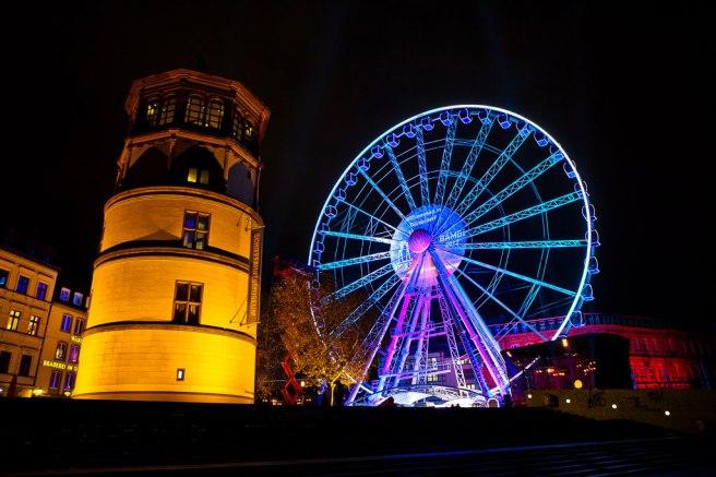 Dusseldorf Ferris Wheel, Düsseldorf, Germany www.christiedigital.co.uk