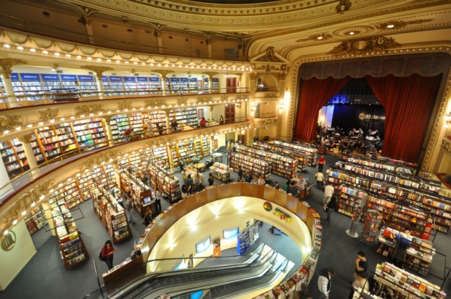 El Ateneo (Theater Bookstore), Argentina via bookriot