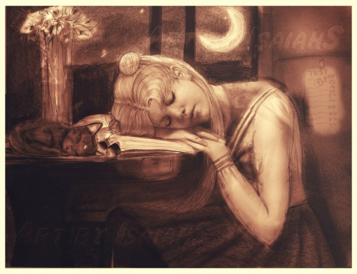 Dreaming after reading (ilustración de Isaiah Stephens)