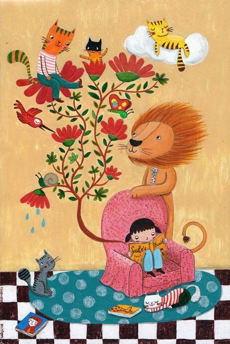 Imagine, reads! (ilustración de Natasha S. Rosenberg)