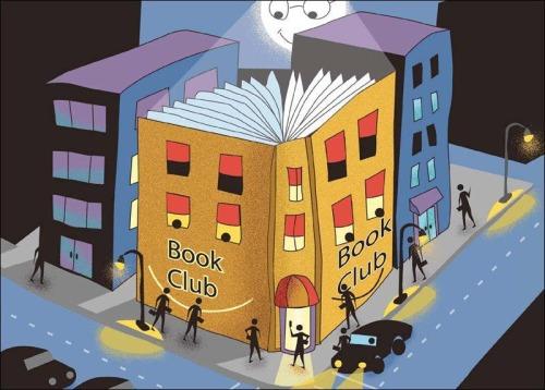 Book Club (ilustración de Jeff Basting)