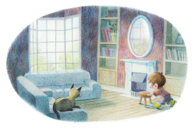 Choosing the book for tonight (ilustración de Genevieve Godbout)1