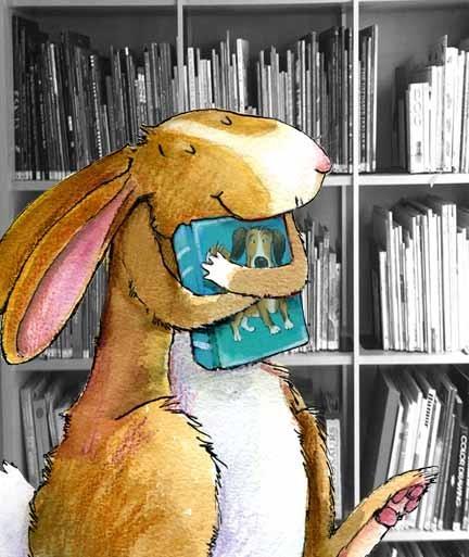 n the library, my favorite book (ilustración de Deborah Melmon)
