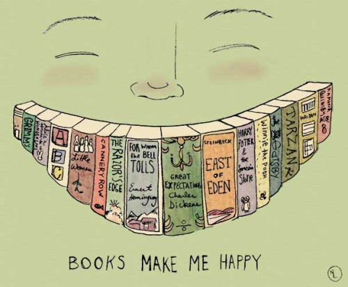 Read and smiley (ilustración de Nancy Lemon)