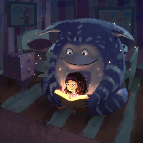The reading light (ilustración de Goro Fujita)