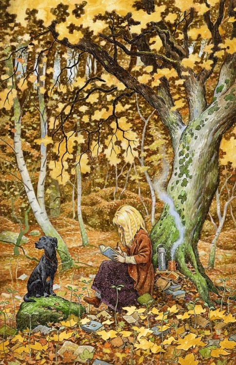 The word in the forest (ilustración de David Wyatt)