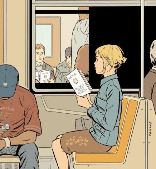Cross-readings (ilustración de Adrian Tomine)
