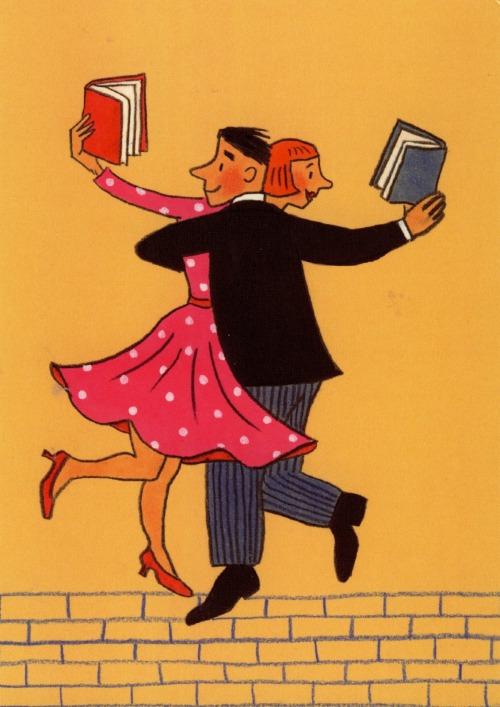 Reading a couple - love between books 1 (ilustración de Rotraut Susanne Berner)