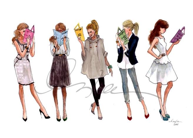 Reading is Fashionable (ilustración de Sophie Louise)