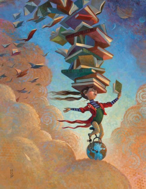 Traveling with reading - information and imagination (ilustración de Mary GrandPre)