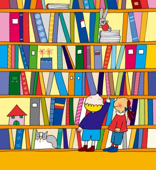 Choice in library (ilustración de Nicoletta Costa)