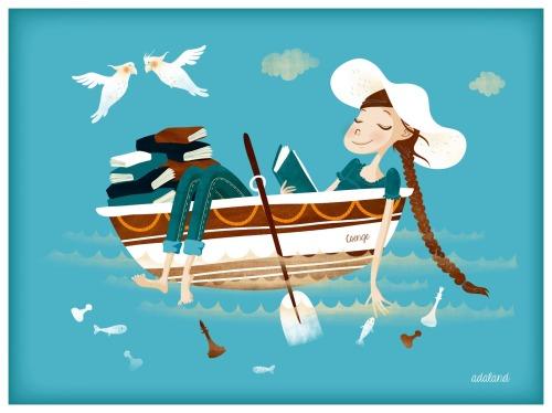 Navigating with reading (ilustración de Ada Vekonya)