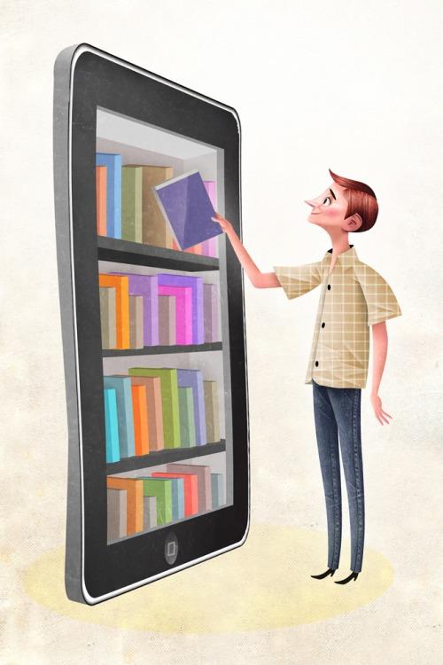 Digital Library (ilustración de Óscar T. Pérez)