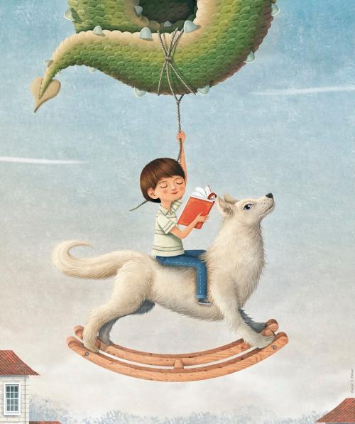 Imagining (Lobos y dragones - Cartel de Óscar T.López)