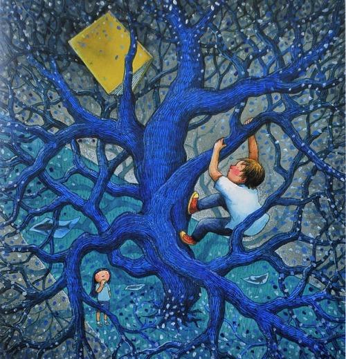 In search of the book (ilustración de Jimmy Liao)