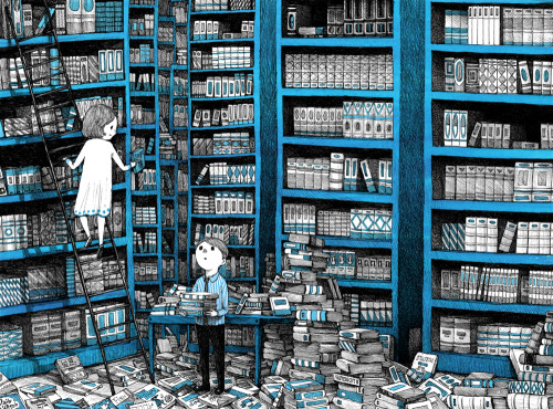 Never Enough Books - ilustración de Sungwon