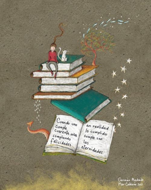 Growing with reading (ilustración de Marcela Calderón)