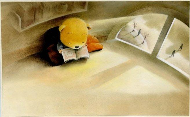 My reading corner (ilustración de Wangdidi)