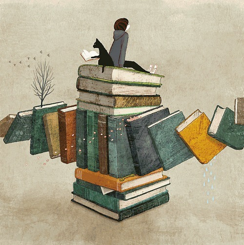 On top of reading (ilustración de Yoko Tanji)
