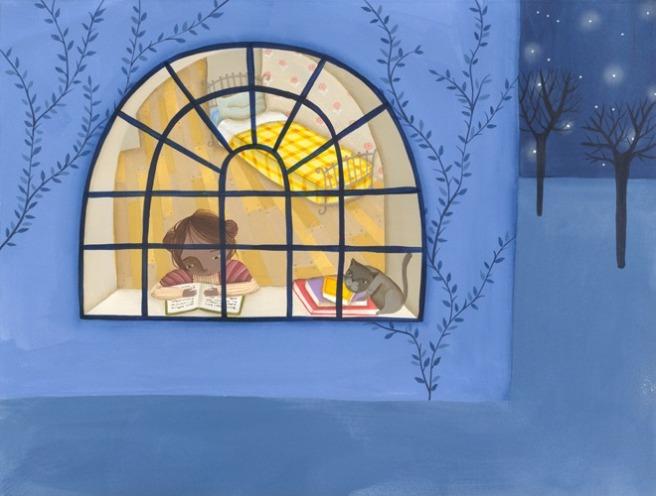 Reading all the time2 (ilustración de Valeria Cis)