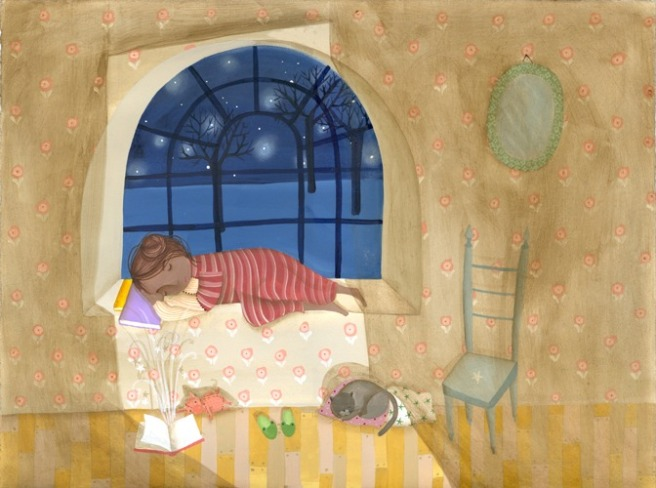 Reading all the time3 (ilustración de Valeria Cis)