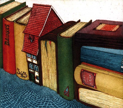 City books (ilustración de Hartmut R. Berlinicke)