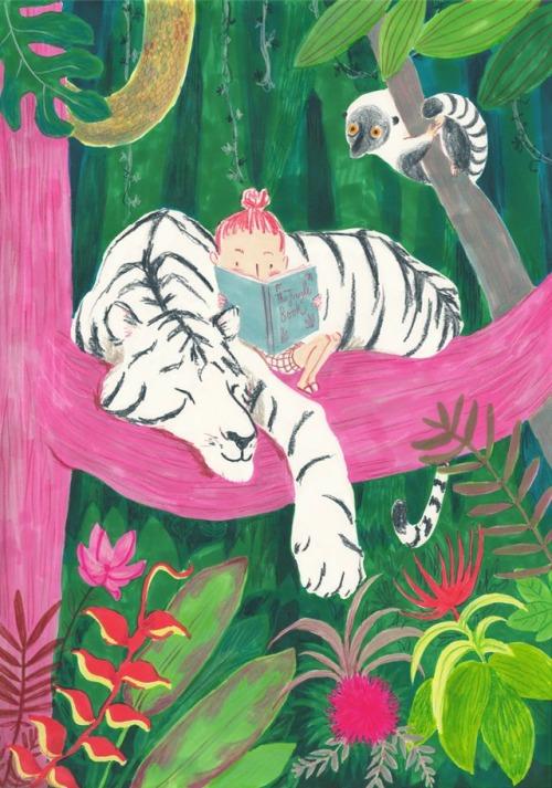 Adventure through the jungle (ilustración de Simona Ciraolo)