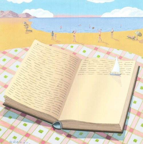 Summer reading (ilustración de Gurbuz Dogan Eksioglu)