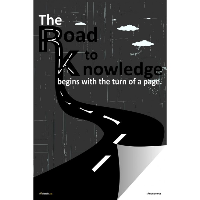 road-to-knowledge-begins-with-the-turn-of-a-page-poster-KN016VG