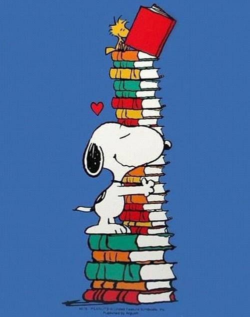 Snoopy lector - ilustración de Charles M Schulz