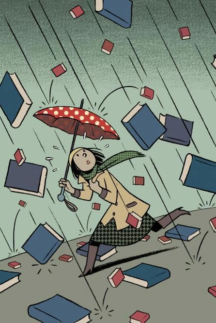 It's raining books by Francesc Capdevila
