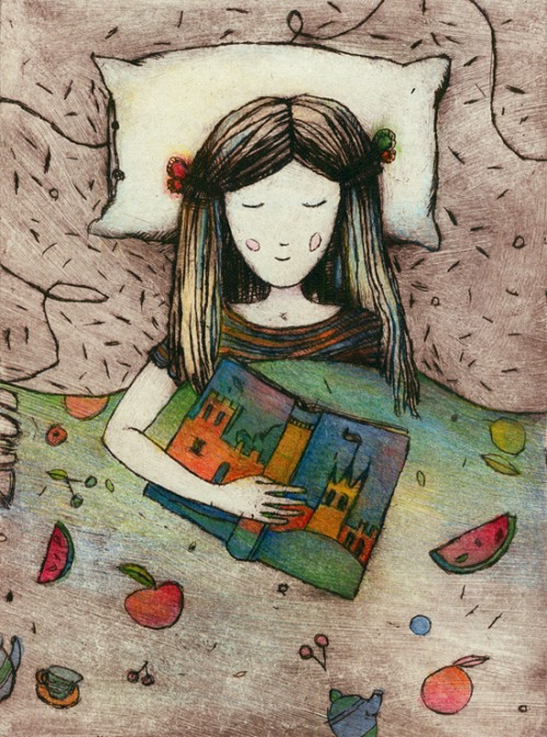 Read, imagine, dream (ilustración de Nati)